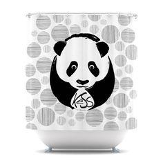 "KESS Original ""Panda"" Shower Curtain from kessinhouse.com  Amazing Artists on home decor!"