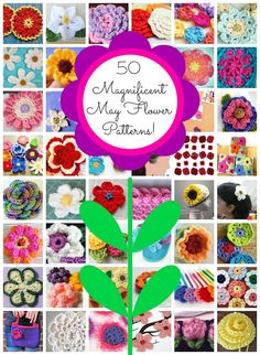 Magnificent May Flowers! 50 Free Crochet Patterns, roundup on Fiber Flux