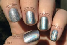 Finger Paints Chromatic Creation China Glaze Hologram Don't Be A Luna-Tic Urban Outfitters Silver Holo