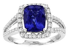 The jewelers at#toptanzanite.com have created an extensive collection of incredible Tanzanite Stones rings.Find this Emerald Shape Tanzanite Ring With #Diamondsin 14k White Gold available at toptanzanite.com.