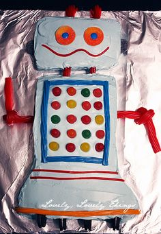 Robot Party Cake. Simple.