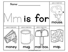 Flip books to teach letter recognition and beginning sounds! Great practice for cutting skills and following directions.