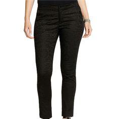 NWOT Lauren by Ralph Lauren Damask Black Pants 97% cotton, NWOT, currently selling over $100, straight leg fit, new condition Lauren Ralph Lauren Pants Straight Leg