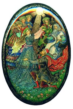 """Russian lacquered boxes """"The Snowmaiden"""", Palekh  ~Repinned via Svetlana Antonova  http://www.tradestonegallery.com/index.php?content=moreviews"""