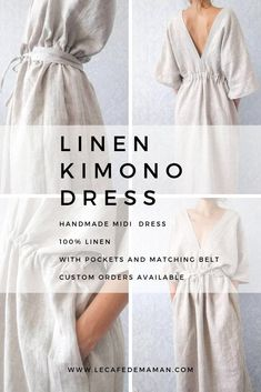 Linen dress - handmade clothes by Le cafe de maman