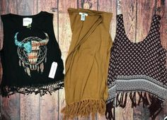 Fringe is in! Tank: American Rebel size medium $8 Kimono: YA size medium $9 Tank: Forever 21 size small $5  #pcWS #platoscloset #pclove #platosclosetwinstonsalem #winstonsalem #336 #WSNC #myWS #DTWS #WSSU #UNCSA #lookforless #lfl #whatiwore #wiw #wiwt #ootd #instastyle #style #trend #fashion #summerstyle #forever21 #fringe (at Platos Closet Winston-Salem)