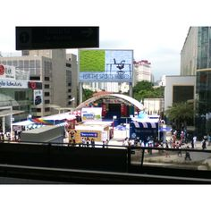 Stage from BTS Skytrain station.