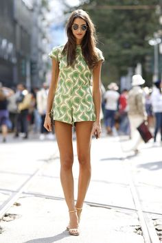 Prints in street style.