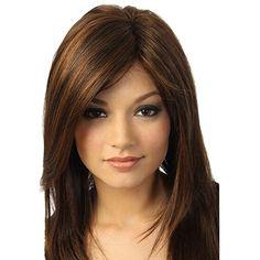 Natural Hair Wigs, Pelo Natural, Natural Hair Styles, Long Hair Styles, Natural Brown, Long Wigs, Short Wigs, Party Hairstyles, Wig Hairstyles