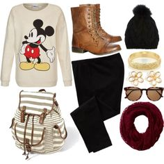 """mickey mouse sweater"" by victoria-publicover on Polyvore"