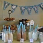 Kids party...cookies and milk instead of cake.