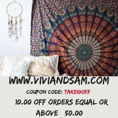 SALE! SALE! SALE! www.viviandsam.com @vivi_and_sam #sale #mandala #mandalas #boho #homedecor #gypsy #positivevibes #positivity #hippy #bohemian #gift #gifts #giftideas #bdaygift #birthday (at Gainesville, Florida)