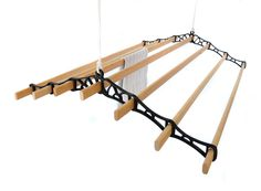 Traditional Victorian, ceiling mounted, pulley operated clothes airer available in assorted colours and lengths. Indoor Clothes Drying Rack, Hanging Drying Rack, Drying Cupboard, Drying Rack Laundry, Laundry Room Layouts, Laundry Room Design, Kitchen Maid, British Home, Victorian Kitchen
