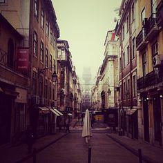 foggy Lisbon