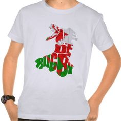 #Wales Home of #Rugby Map Tee. An awesome custom printed children's t-shirt, makes a perfect gift!   To see this design on the full range of products, please visit my store: www.zazzle.com/gamefacegear*/ and click on the 'Other Sports Designs' category. #sixnations