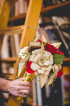 Beauty and the Beast wedding bouquet. The price is too expensive but maybe we can find a diy