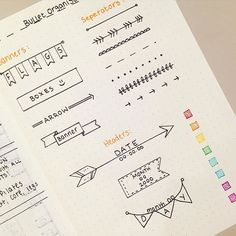 headers and banners for bullet journal or any planners