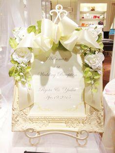 ウェルカムボード - Google 検索 Wedding Welcome Signs, Wedding Signs, Wedding Cards, Art Storage, Wedding Decorations, Table Decorations, 50th Anniversary, Welcome Boards, Photo Booth
