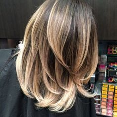 balayage brown to blonde medium length hair - Google Search