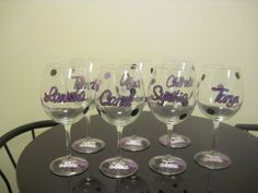 16 Useful DIY Ideas How To Decorate Wine Glasses.