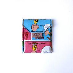 SNOOPY PEANUTS Kartentäschchen  Upcycling Unikat! Karten Täschchen, Geldbeutel, Visitenkartenetui, Kreditkarten, Hund Comic Täschchen von PauwPauw auf Etsy