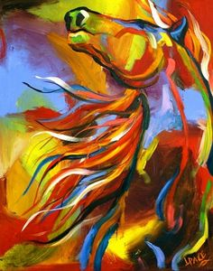 The Perfect Joy . . . Wild Mustang Horse Paintings by Laurie Pace, painting by artist Laurie Justus Pace