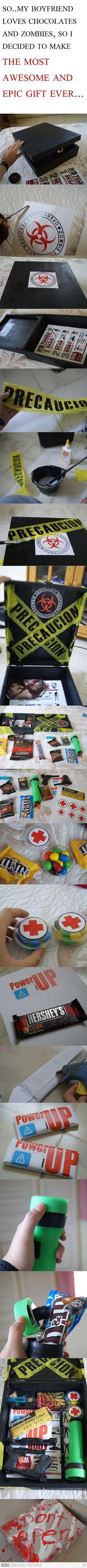 Zombie survival kit jajaja bien regalo para san Valentín