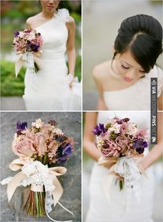 tied with lace and pearls | VIA #WEDDINGPINS.NET