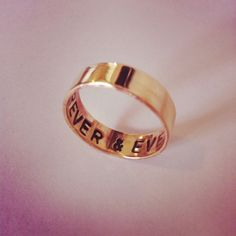Custom Handmade Brass ring made for a client. #jewelry #handmade #jewellery #etsy