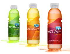 Aqua Vita by Juan Carlos Zuluaga niño, via Behance Water Packaging, Juice Packaging, Beverage Packaging, Bottle Packaging, Brand Packaging, Packaging Design, Product Packaging, Pseudo Science, Beauty Water