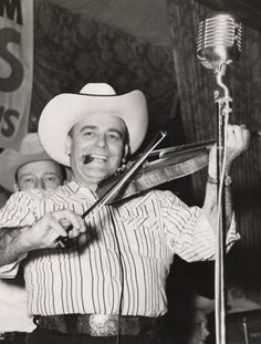 Bob Wills, singer with The Texas Playboys, born in Kosse, Tx.