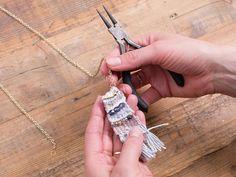 DIY-Anleitung: Kette mit gewebtem Anhänger selber machen via DaWanda.com