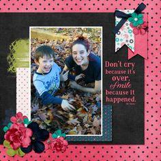 I used You Make Me Smile Kit by Southern Creek Designs at Plain Digital Wrapper.