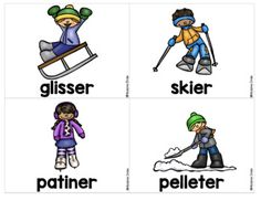 French labels Winter/ Hiver - Mur de mots by Madame Emilie French resources French Resources, Teacher Resources, Classroom Resources, French Immersion, French Class, Second Language, Winter Olympics, Winter Sports, School Days