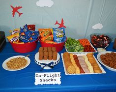 Airplane Birthday Party Ideas, put snacks in individual little cups like on a plane