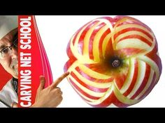 Art In Apples Show, Fruit Carving Apple Secret, Escultura em frutas e le. Learning Apps, Fruit Carvings, Best Food Ever, Play To Learn, Amazing Recipes, Cooking Tips, Good Food, Advertising, Parties