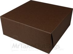 "10 x 10 x 4"" Chocolate Brown Tinted Cupcake / Deep Pie Boxes 