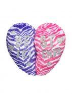 Best Friends Zebra Broken Heart Pillow