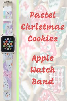Shop Popular Pastel Christmas Cookie Yoga Health Apple Watch Band created by MiniBrothers. Apple Watch Bands Mens, Apple Watch Bands Fashion, Best Apple Watch, Apple Watch Series 1, Apple Fitness, Best Fitness Tracker, Best Mothers Day Gifts, Apple Watch Accessories, Pretty Pastel