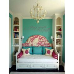 A Teen Girls Bedroom found on Polyvore {I love this color}