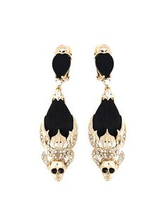 Givenchy dropped skull earrings