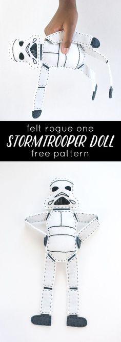 Free Felt Stormtrooper Doll Project // wild olive
