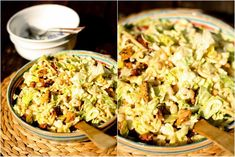U nás na kopečku: ... cizrnový salát s krůtím masem .... Protein, Pasta Salad, Cauliflower, Gluten Free, Vegetables, Cooking, Ethnic Recipes, Fitness, Bulgur