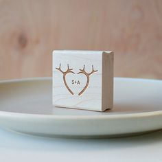 Antler Heart Monogram Stamp