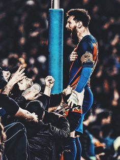 Messi (celebrating Barcelona 6 - 1 against PSG. Messi And Neymar, Messi Soccer, Messi Fans, Fc Barcelona, Lionel Messi Barcelona, Cristiano Ronaldo, Lionel Messi Wallpapers, Messi Photos, Fc Bayern Munich