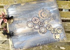 Steampunk wedding guest book  24 pages by youruniquescrapbook, £47.00