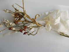 Pip Berry spray with dried natural rose buds by herbalcottage, $5.50