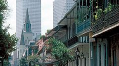 The only place in the south where there are more beads than Spanish moss hanging from the trees:). New Orleans