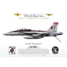 """F/A-18F VFA-41 """"Black Aces"""" CAG 2011 JP-1183"""