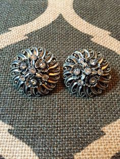 A personal favorite from my Etsy shop https://www.etsy.com/listing/233439901/vintage-pewter-tone-and-rhinestone